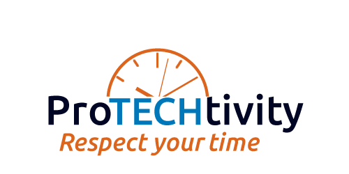 Protechtivity – logo design for Steve Dotto's new series of seminars.