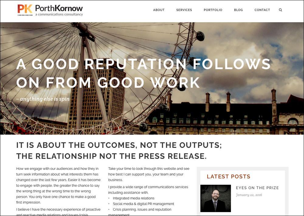 Home page Porth Kornow