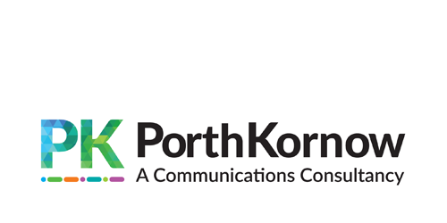 Logo for Porth Kornow a London-based communications and PR firm.